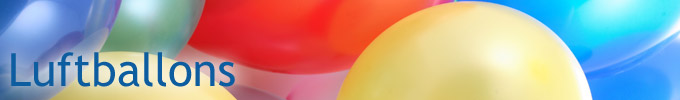 Zubehör für Luftballons – Helium Ballongas, Ballonstäbe und Verschlüsse für Luftballons.