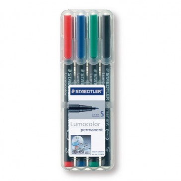 STAEDTLER Lumocolor Permanent Marker S in 4er Box 313WP4 (ab 250 Stück)