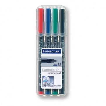 STAEDTLER Lumocolor Permanent Marker M in 4er Box 317WP4 (ab 250 Stück)