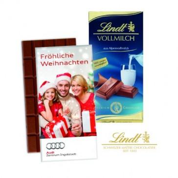 Lindt Tafel 100g Vollmilch Premium Schokolade (ab 100 Stück)