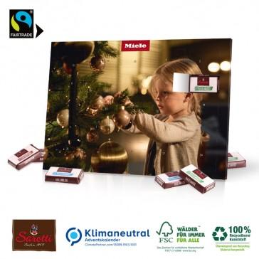 Tisch-Adventskalender mit Fairtraide Schokolade