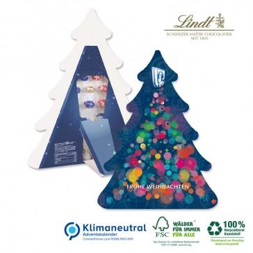 Recycelbarer Adventskalender als Weihnachtsbaum