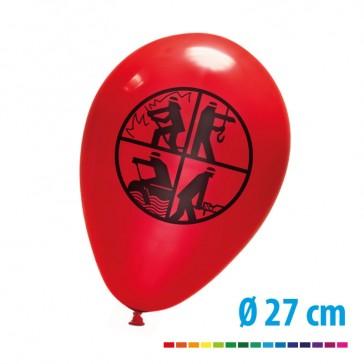 Luftballon 27 cm bedrucken mit Feuerwehr Logo