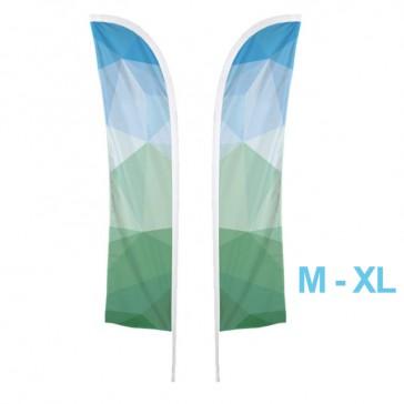 Nachdruck beidseitig als Ersatzfahne für Beachflag S, M, L oder XL halbrund mit Spitze