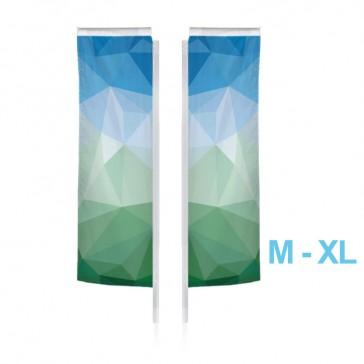 Nachdruck beidseitig als Ersatzfahne für Beachflag M, L oder XL rechteckig als Square-Flag