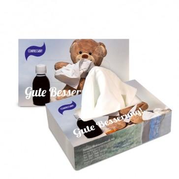 Großen Serviettenspender oder Riesen Kleenexbox bedrucken als Taschentücher Zupfbox