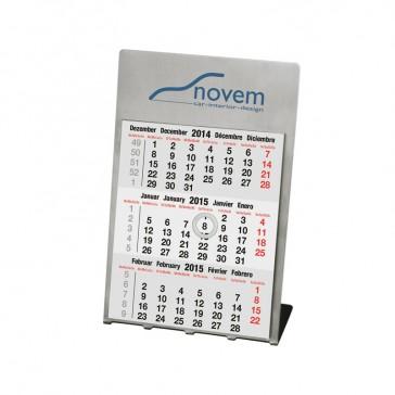 Tischkalender Steel aus glänzendem Edelstahl bedrucken