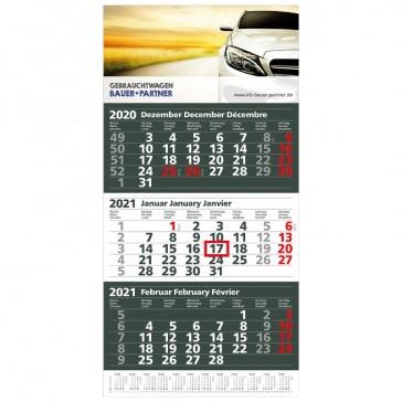 Einblatt-Monatskalender Extra 3 in anthrazit