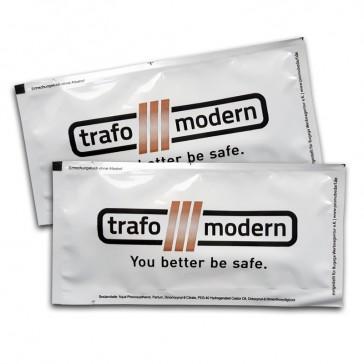 Erfrischungstücher von Trafo Modern als Werbeartikel mit mehrfarbigem Druck