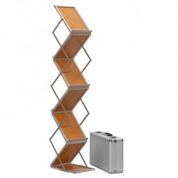 Broschürenständer als Flyerhalter mit Holzablagen