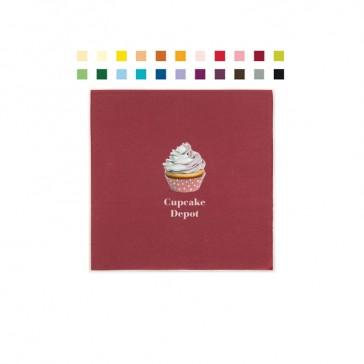 Cocktailservietten aus farbigem Tissue Material mit Digitaldruck für Fotomotive oder bunte Grafiken