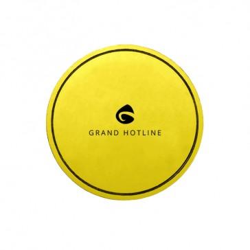 Runde farbige Tassendeckchen bedrucken im Prägedruck mit eigenem Logo