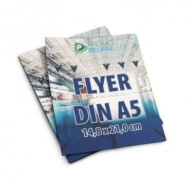 Flyer DIN A5 mit eigenem Motiv bedrucken als Werbehandzettel