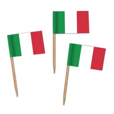 Käsepicker, Partypicker, Italien, Spieße, Party, Partydeko, Dekoration, Dekorationen, Kanapee, Canapé, Fahne, Flagge, Kostprobenpicker, Miniflagge, Miniflaggen, Minifahne, Minifahnen, Holzpicker, Picker
