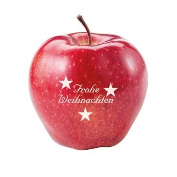 Apfel mit Weihnachtsmotiv Standard