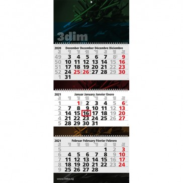 Wandkalender Maxi Wire-O als Kalender mit Ringbindung bedrucken mit eigener Firmenwerbung