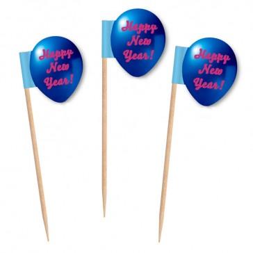 Ballonförmige Partypicker als Mini Flags bedrucken
