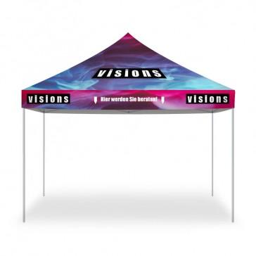 Messe Zelt bedrucken als Pagodenzelt für Event