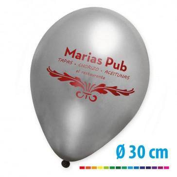 Metallic Luftballons bedrucken Gold oder Silber oder weitere Metallictöne