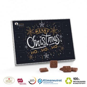 Prmeium Tisch Adventskalender mit feiner Schokolade bedrucken