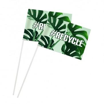 Recycling Papierfahnen komplett aus Papier bedrucken als Werbeartikel Format M