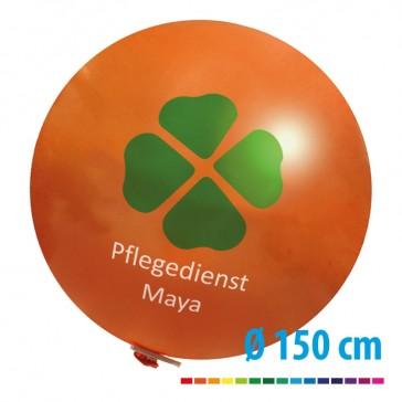 Riesenballons 150 cm Durchmesser mit eigenem Logo als Werbung bedrucken
