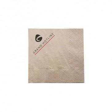 Öko Servietten auf braunem Papier bedrucken