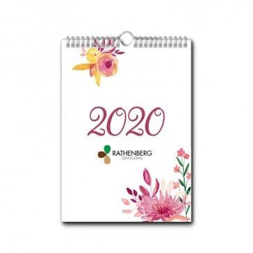 Wandkalender A4 Hoch jeder Monat individuell (ab 10 Stück)
