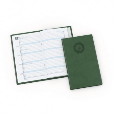 Taschenkalender Mars in grün bedrucken als Werbeartikel