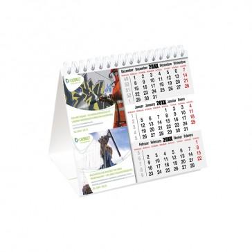 Tischkalender Querformat mit Karton-Aufsteller jeder Monat individuell bedrucken