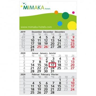 Kalender günstig bedrucken als Budget 3 Complete