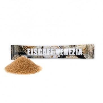 Zuckersticks im Digitaldruck mit braunem Rohrzucker bedrucken