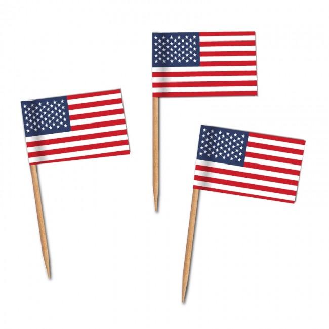 🛒 USA Flaggenpicker als Zahnstocherfähnchen mit Standardmotiv (ab ...