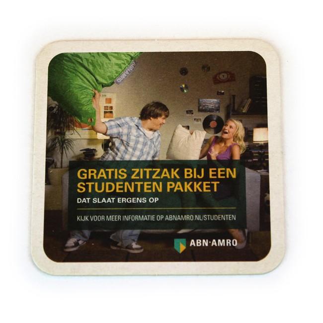 Abn Amro Zitzak.Quadratische Classic Bierdeckel Bedrucken 1 4mm Starke 93x93mm