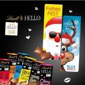 Schokolade von Lindt HELLO in Werbeschuber (ab 250 Stück)