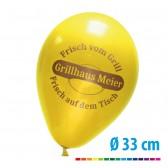 Luftballons bedrucken 85/95 cm, Ø33cm (ab 1000 Stück) + Pumpe gratis