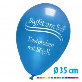Luftballons bedrucken 90/100 cm, Ø35cm (ab 1000 Stück) + Pumpe gratis