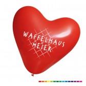 Luftballons Herzform als Herzballons bedrucken Ø33cm (ab 1000 Stück) + Pumpe gratis