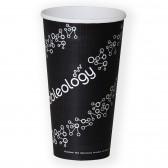 Einwand-Pappbecher als To Go Kaffeebecher 550ml 20oz Ø90mm (ab 1.400 Stück)