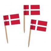 Dänemark Flaggenpicker als Zahnstocherfähnchen mit Standardmotiv (ab 1.000 Stück)