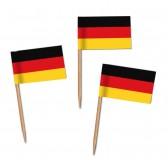 Deutschland Flaggenpicker als Zahnstocherfähnchen mit Standardmotiv (ab 1.000 Stück)