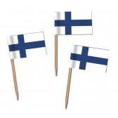 Finnland Flaggenpicker als Zahnstocherfähnchen mit Standardmotiv (ab 1.000 Stück)