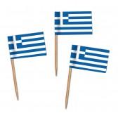 Griechenland Flaggenpicker als Zahnstocherfähnchen mit Standardmotiv (ab 1.000 Stück)