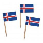 Island Flaggenpicker als Zahnstocherfähnchen mit Standardmotiv (ab 1.000 Stück)