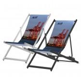 Liegestuhl aus Aluminium ohne Armlehne bedrucken
