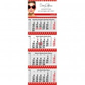 Mehrblock-Monatskalender Quadro 4 Post Bestseller (ab 50 Stück)