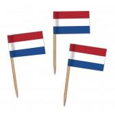 Niederlande Flaggenpicker als Holland Zahnstocherfähnchen mit Standardmotiv (ab 1.000 Stück)