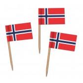 Norwegen Flaggenpicker als Zahnstocherfähnchen mit Standardmotiv (ab 1.000 Stück)