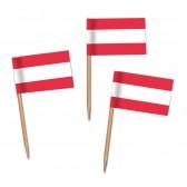 Österreich Flaggenpicker als Zahnstocherfähnchen mit Standardmotiv (ab 1.000 Stück)