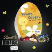 Lindt 'HELLO' Easter Egg Mix im Werbedisplay Osterei 50g (ab 100 Stück)